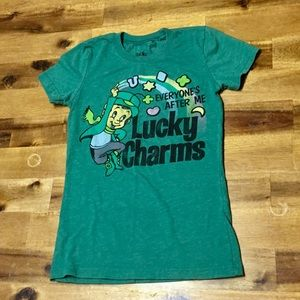 BNWOT Lucky Charm T Shirt Girls Size Small